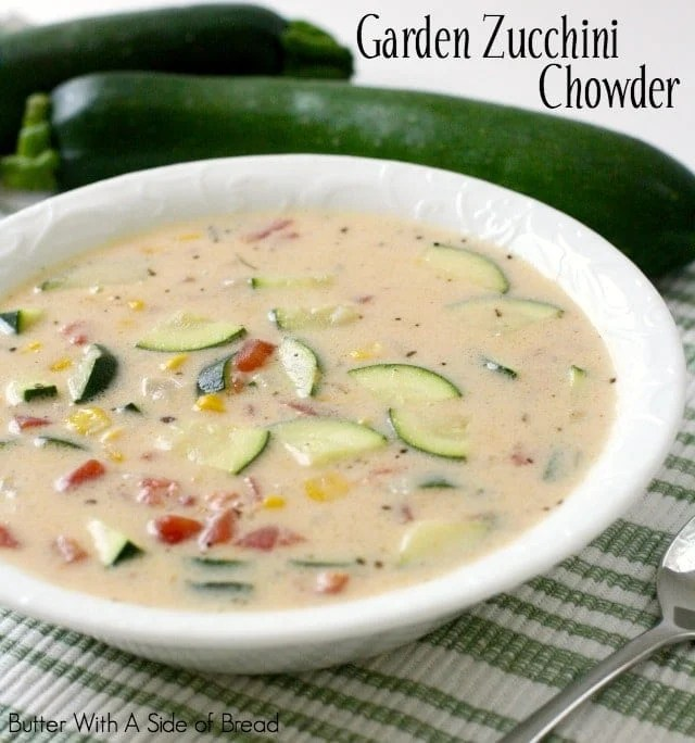 Garden Zucchini Chowder soup recipe that's perfect for late summer dinners when the garden is plentiful. Lovely fresh flavors in this easy-to-make chowder.