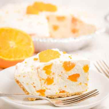 Easy No-Bake Orange Creamsicle Cheesecake recipe