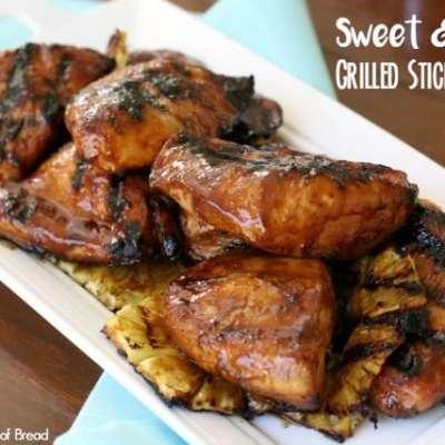 SWEET & SPICY GRILLED STICKY CHICKEN