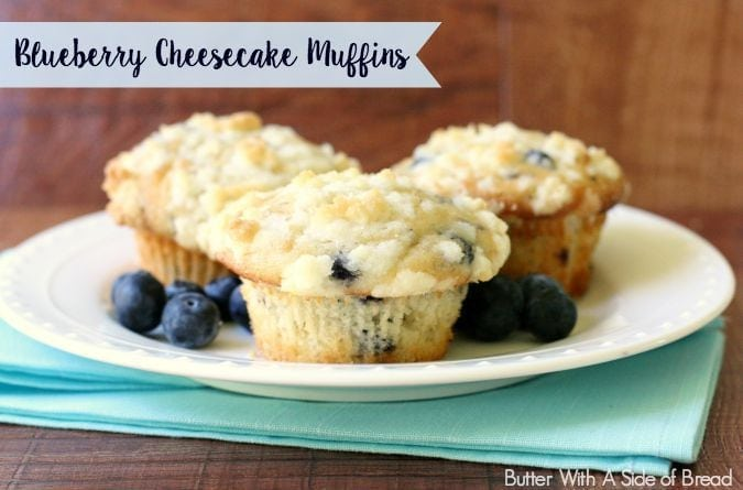 Blueberry Cheesecake Muffins - Butter With A Side of Bread