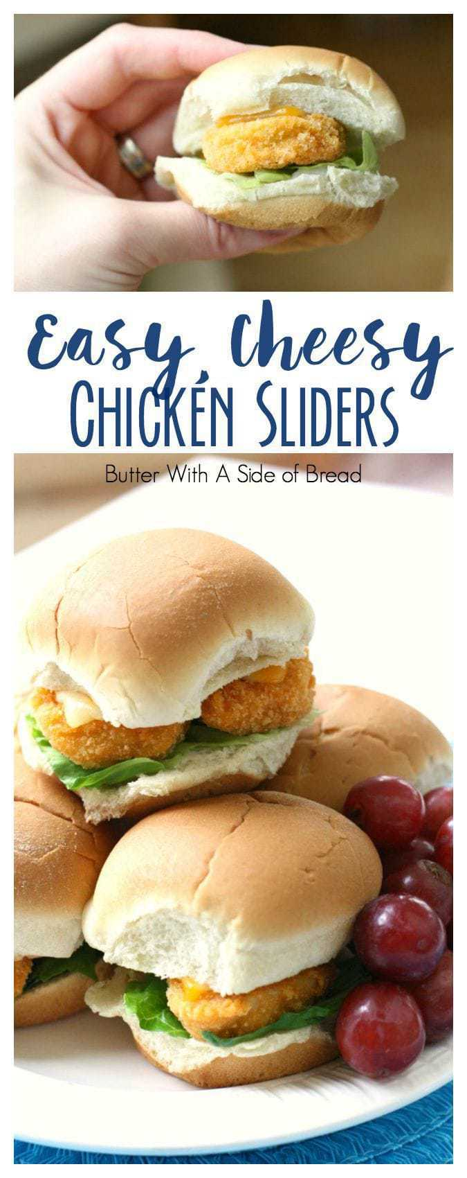 Easy Cheesy Chicken Sliders - Butter With A Side of Bread