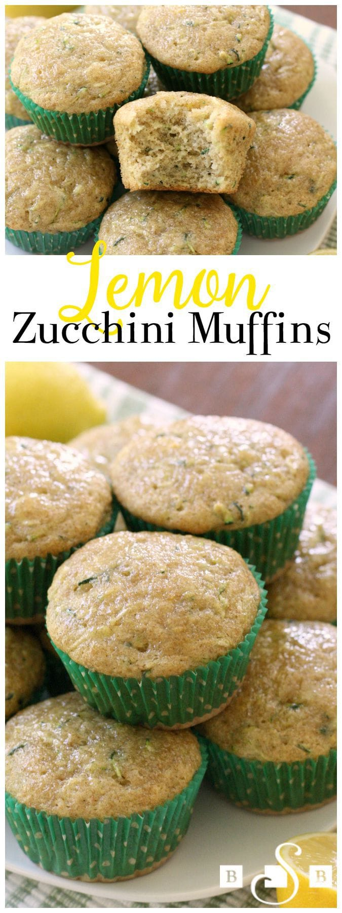 Lemon Zucchini Muffins are a favorite when the garden is bursting with fresh zucchini! More delicate than zucchini bread, you'll love the fresh, bright flavor of added lemon and cinnamon too.  Perfect #zucchini #recipe from Butter With A Side of Bread
