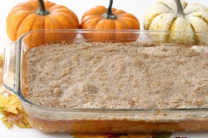 Pumpkin Pudding Cake is made with cake mix, pumpkin pie filling, butter, and cinnamon. It's a perfect, delicious alternative for Pumpkin Pie!