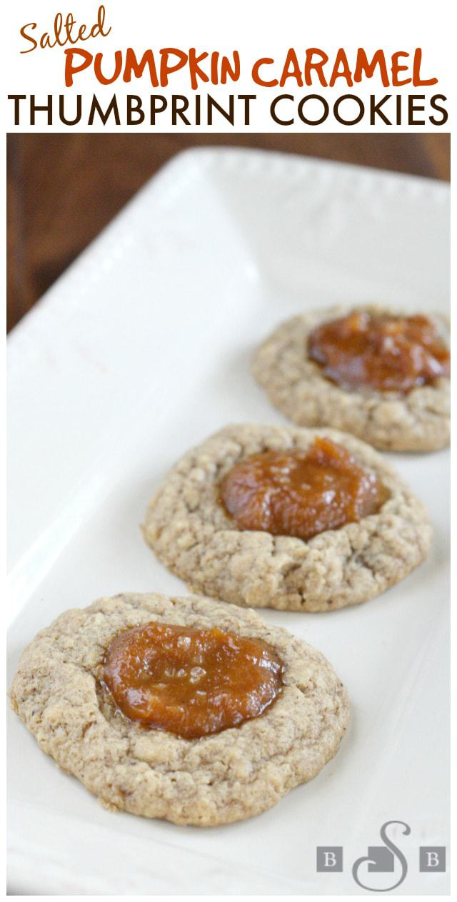 I found this recipe about a year ago and finally got around to trying it - why did I wait so long?!? I decided to simplify the recipe by using a Krusteaz Brown Sugar Oatmeal cookie mix as the base of the cookie, and the flavors in this cookie went perfectly with the pumpkin caramel filling.