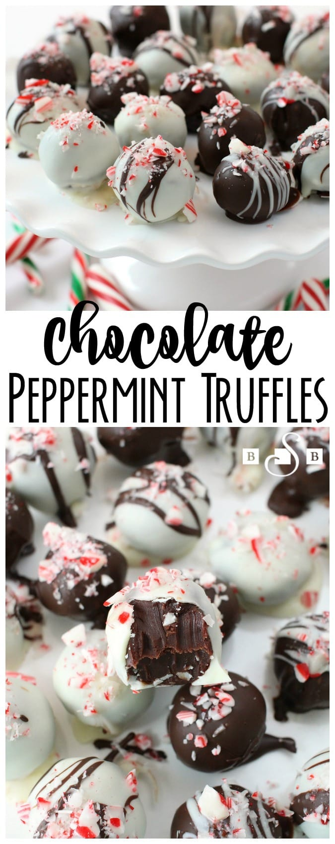 Truffles are a great holiday treat and these ones are no exception! The peppermint and chocolate flavors are so tasty together and always make us want more!
