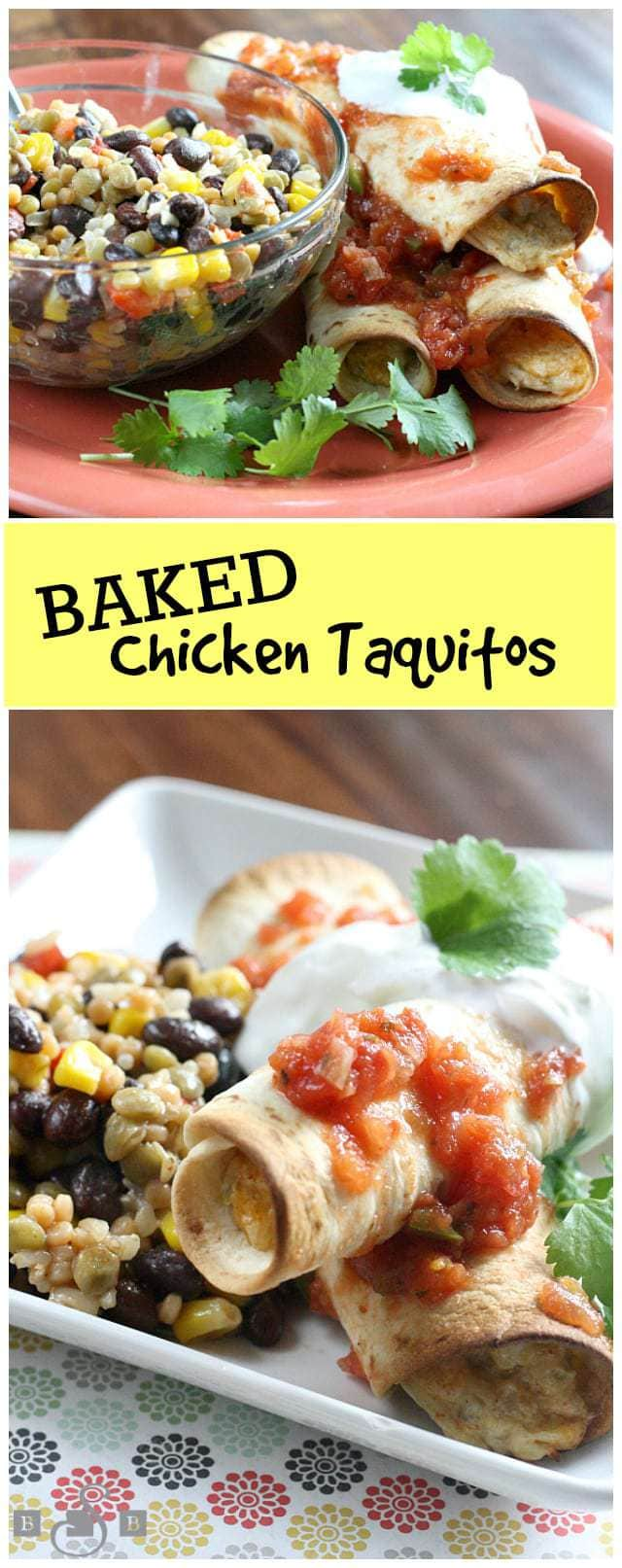 Baked Chicken Taquitos - Butter With a Side of Bread