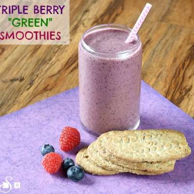 """TRIPLE BERRY """"GREEN"""" SMOOTHIES"""