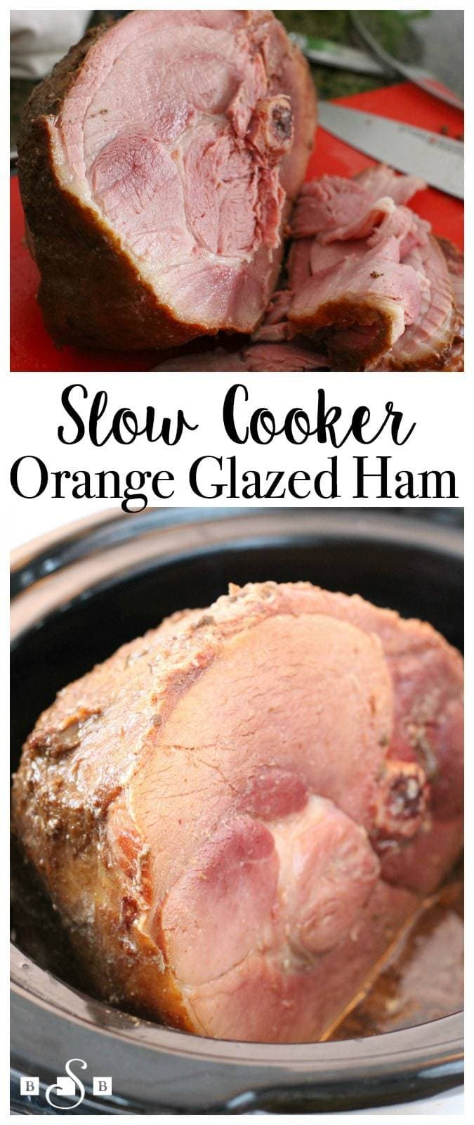 Years ago I experimented with cooking a ham in the crockpot and it worked out so well I've cooked them that way since! You can check out one of my favorite Slow Cooker Ham recipes here- but this time I needed something even faster and easier. And you know what- it was incredible! I think this might be my new favorite way to slow cook a ham!
