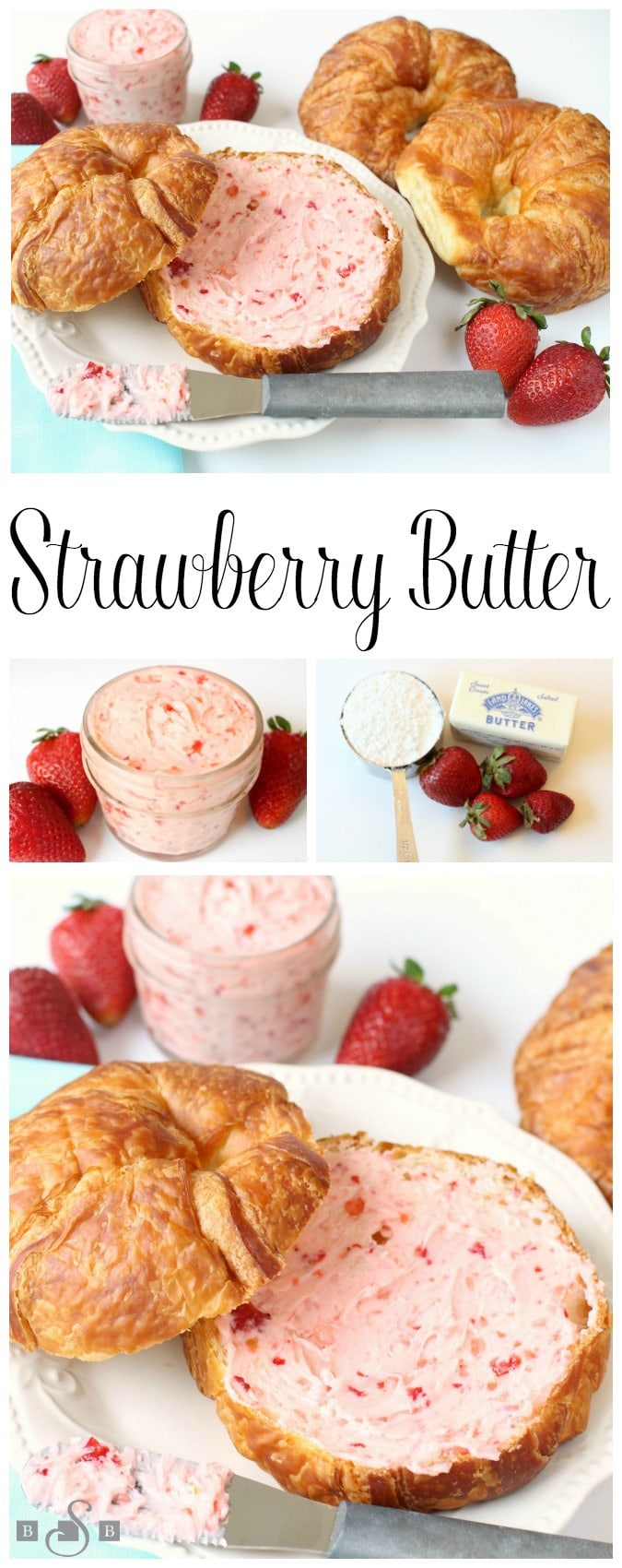 Strawberry Butter is a simple and delicious fresh fruit spread recipe that's great on biscuits, rolls and toast! Just 3 ingredients and only 5 minutes to make this amazing strawberry butter recipe.