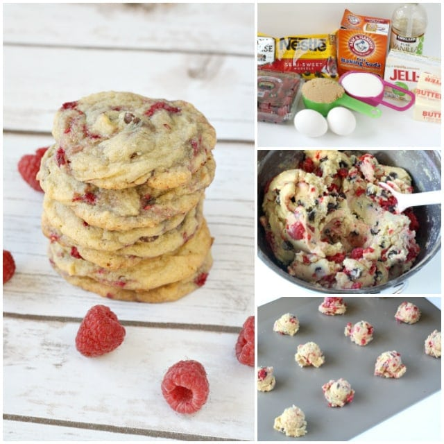 Step by step photos of how to make raspberry chocolate chip cookies. Butter With a Side of Bread
