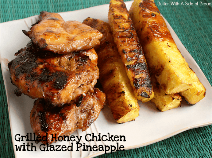 Grilled chicken with pineapple.top