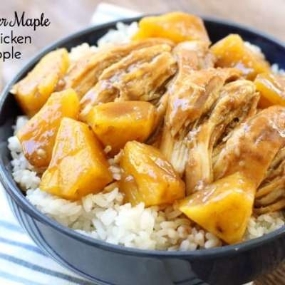 SLOW COOKER MAPLE BBQ CHICKEN & PINEAPPLE