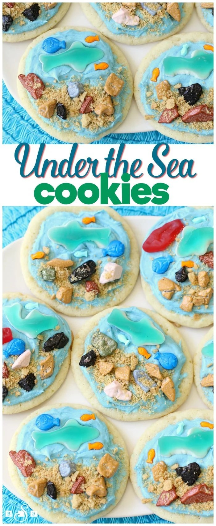 "My kids have always been fascinated with ocean creatures, so when we found out the movie Finding Dory hits theaters tomorrow, then Discovery Channel's Shark Week is 10 days later, well, that calls for some celebrating! We made these cute ""Under the Sea"" Cookies that are just as fun to make as they are to eat."