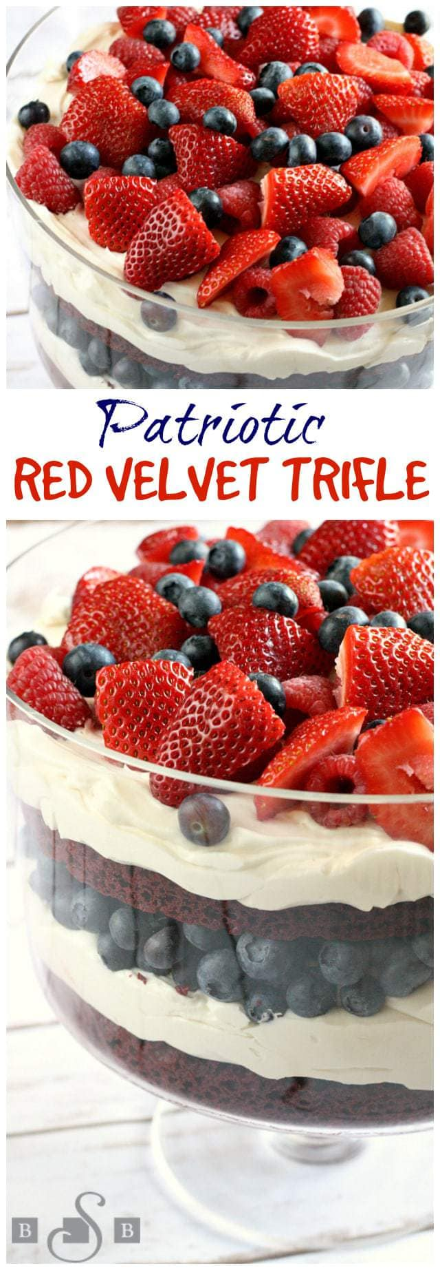 Patriotic Red Velvet Trifle - Butter With a Side of Bread