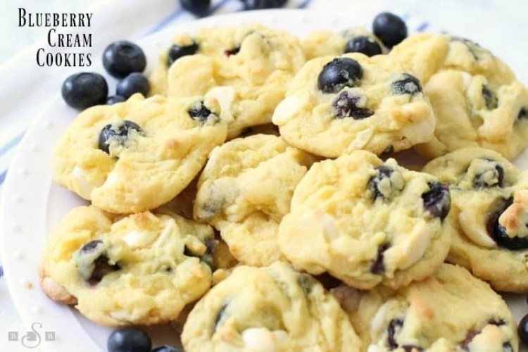 Blueberry Cream Cookies - Butter With A Side of Bread