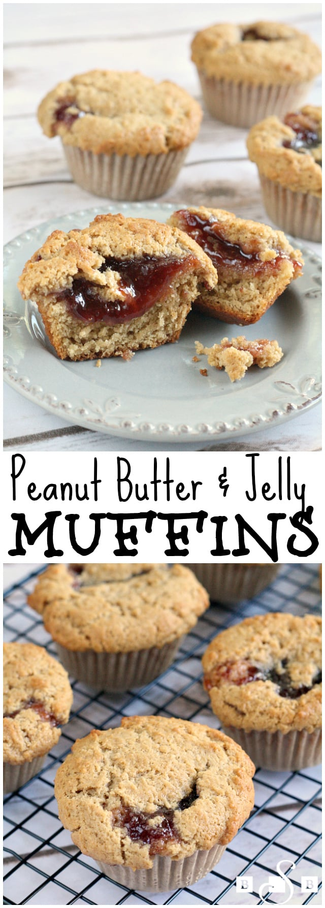 Packing lunches for four kids every day is a bit of a challenge, and I love that I can always find everything I need at my local Kroger store. My kids love peanut butter and jelly so I'm always looking for ways to spice it up just a little. I made this muffins and they were a huge success with my kids (and my husband too)! These would be great to pack in school lunches or even to serve as an after school snack with a big glass of milk.