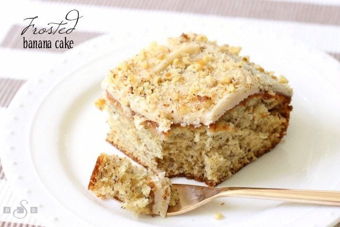 Browned Butter Frosted Banana Cake - Butter With A Side of Bread