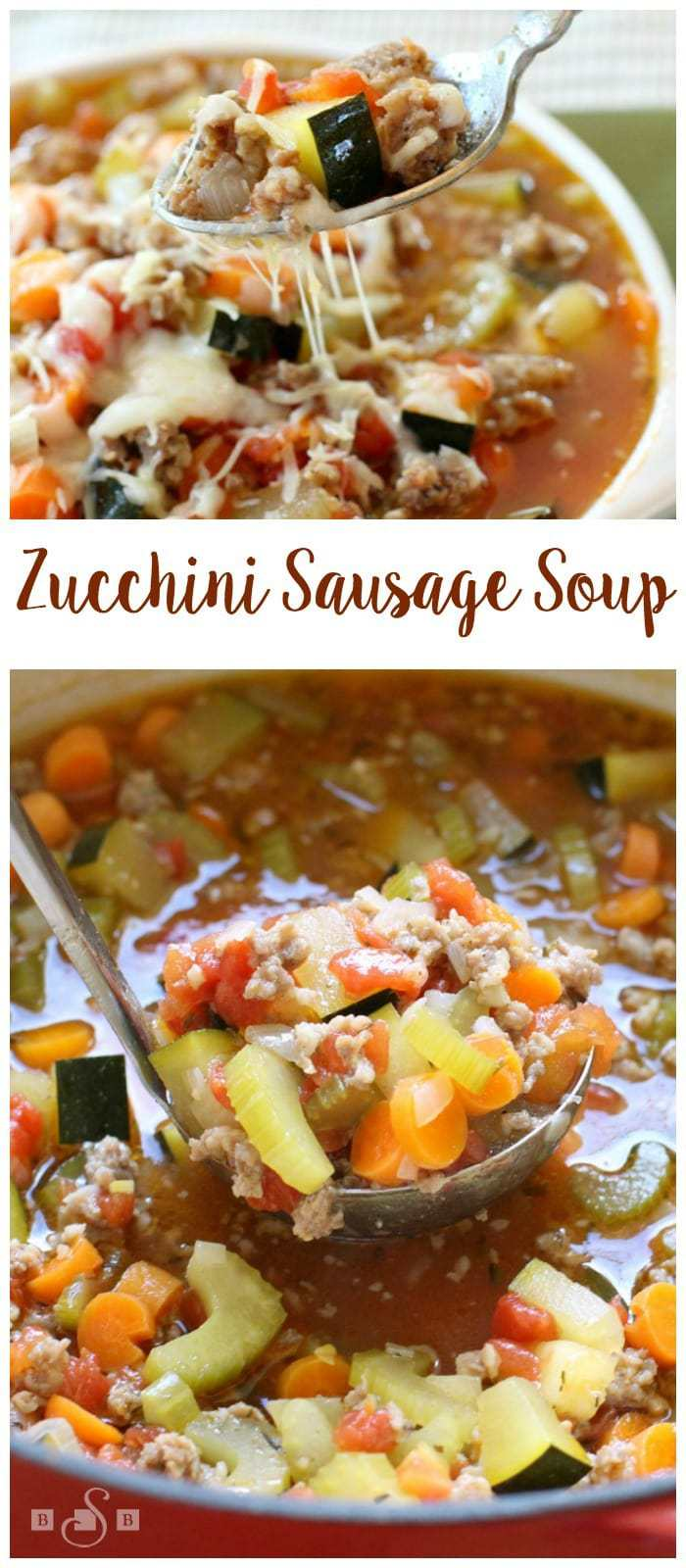 Easy recipe for Zucchini Sausage Soup that has wonderful fresh flavors and satisfies that comfort food craving all at once.