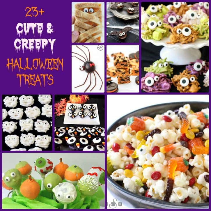Halloween treats perfect for parties! Cute, creepy, spooky and DELICIOUS! Here are 23+ Halloween Treats you need to make this fall!