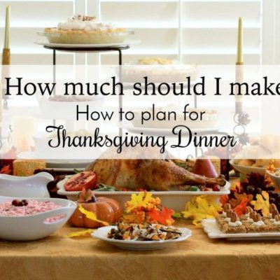 Thanksgiving Dinner Ideas: Planning Your Thanksgiving Dinner