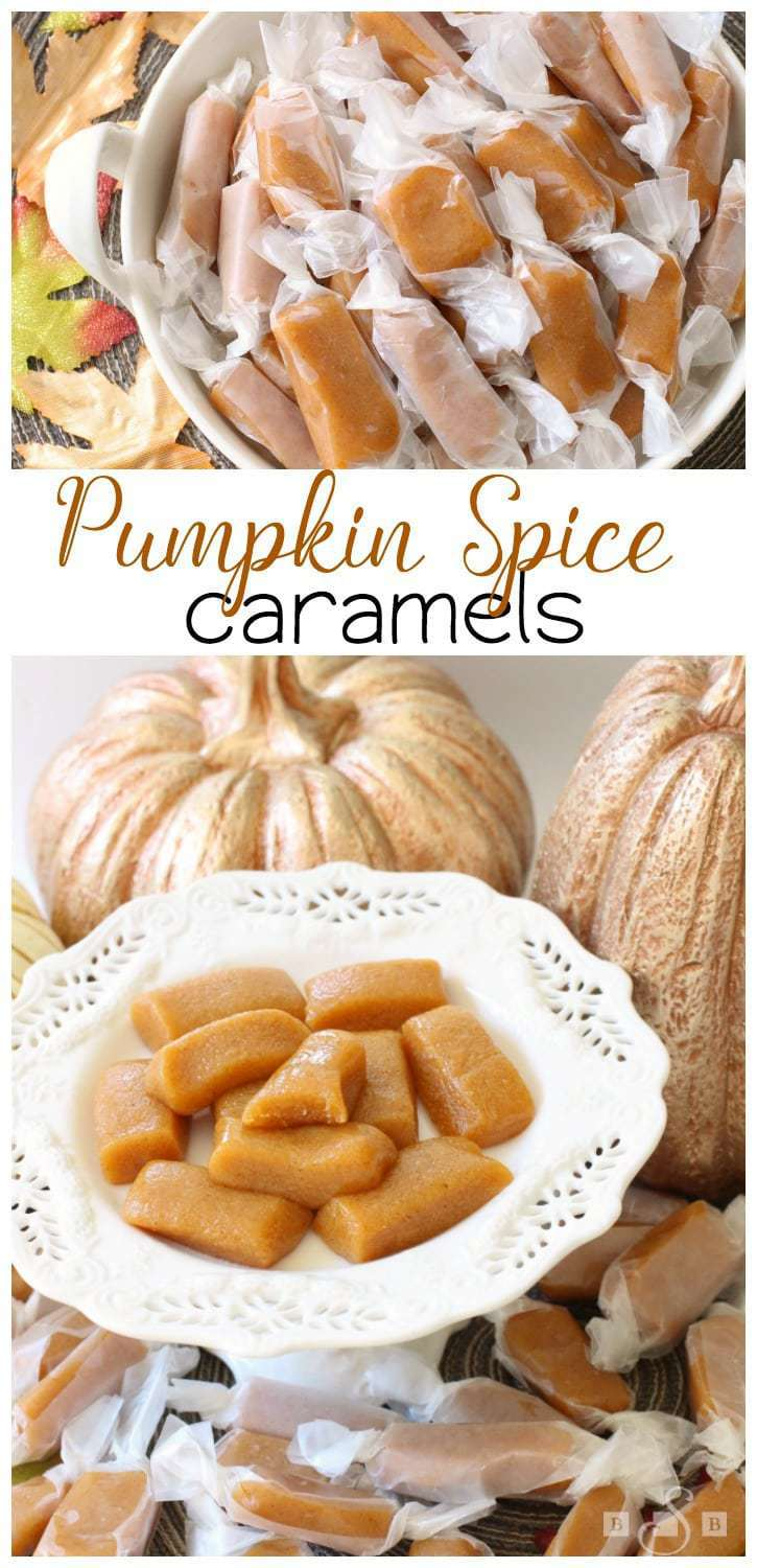 Pumpkin Spice Caramels are the perfect fall treat! Combining the pumpkin flavor with the gooey caramel texture guarantees a new family favorite recipe!