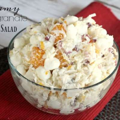 CREAMY POMEGRANATE SALAD
