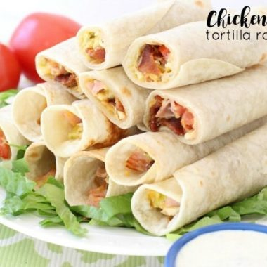 Chicken Club Tortilla Roll-Ups - Butter With A Side of Bread