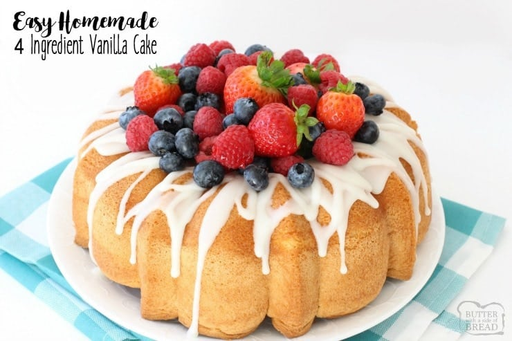 EASY HOMEMADE VANILLA CAKE - Butter with a Side of Bread