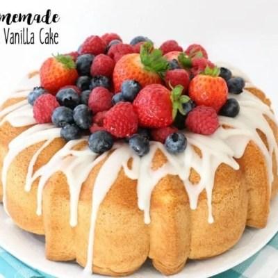 EASY HOMEMADE VANILLA CAKE