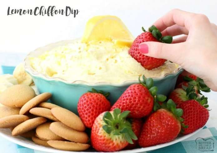 This simple Lemon Chiffon Dip has a bright, fresh flavor and a light and creamy texture; plus it only takes 5 minutes to make and it's ready to serve!