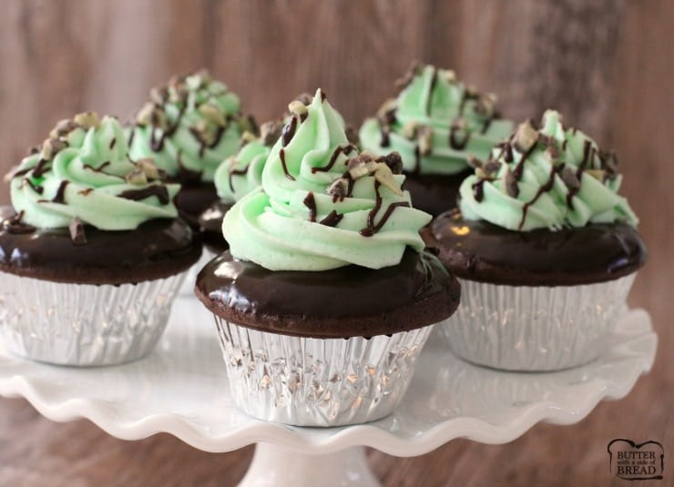 Mint Chocolate Cupcakes Boxed Cake Mix Hacks Butter With
