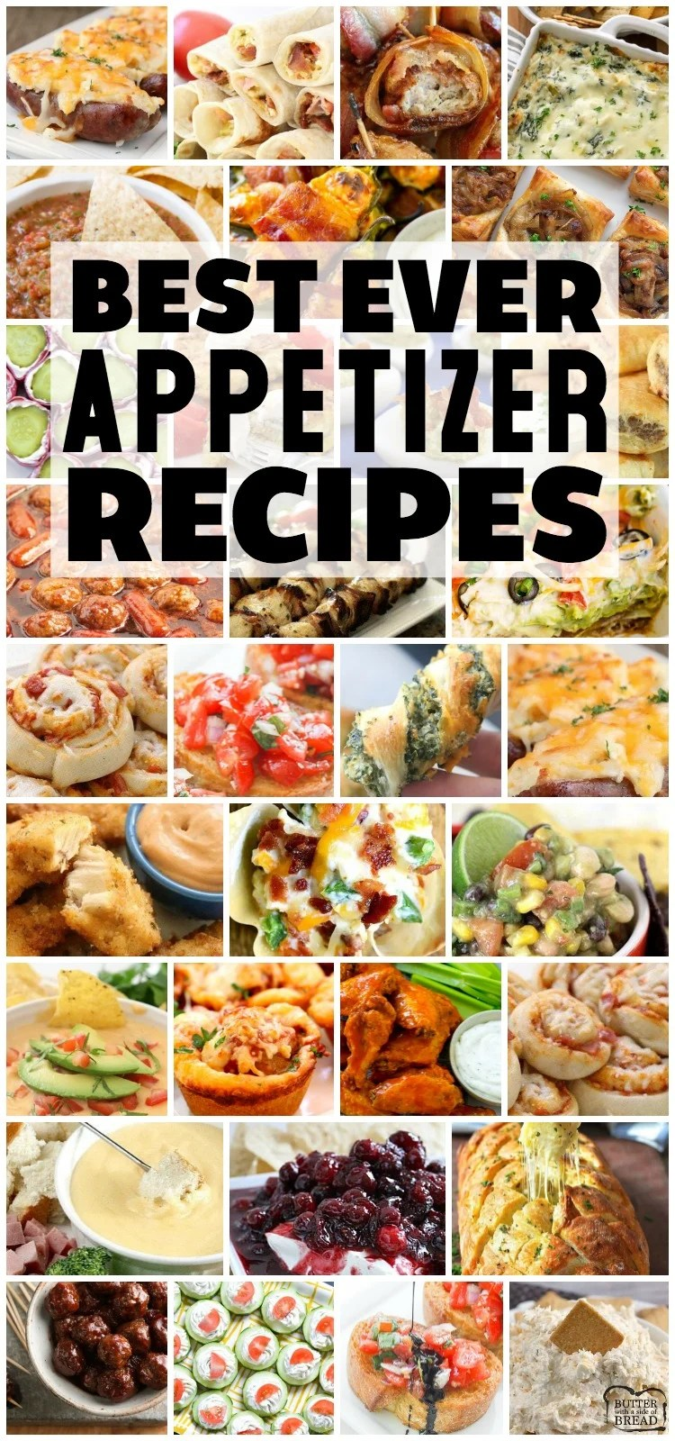 Easy appetizer recipes with few ingredients and minimal prep time are exactly what you need for any party! Fantastic collection of the BEST simple appetizer recipes ever! #appetizers #recipe #snacks #appetizer #horsdoeuvres #recipes from BUTTER WITH A SIDE OF BREAD