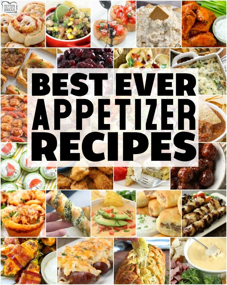 Easy appetizer recipes with few ingredients and minimal prep time are exactly what you need for any party! Fantastic collection of the BEST simple appetizer recipes ever!