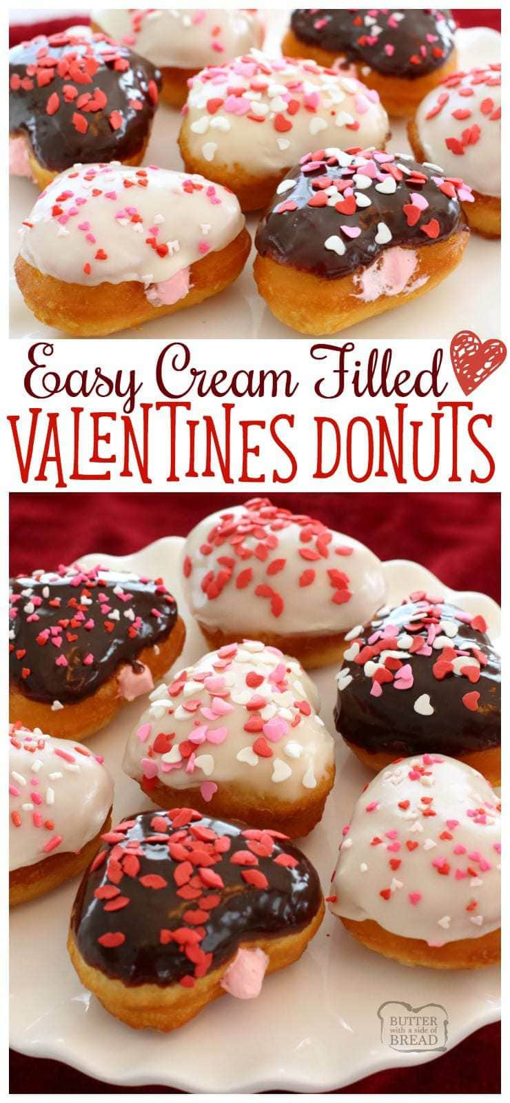 These Easy Valentines Donuts are simple and fast - just start with store-bought biscuits and you'll end with these darling, heart-shaped treats!