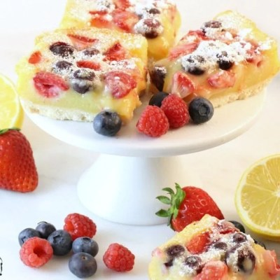 BERRY LEMON BAR RECIPE
