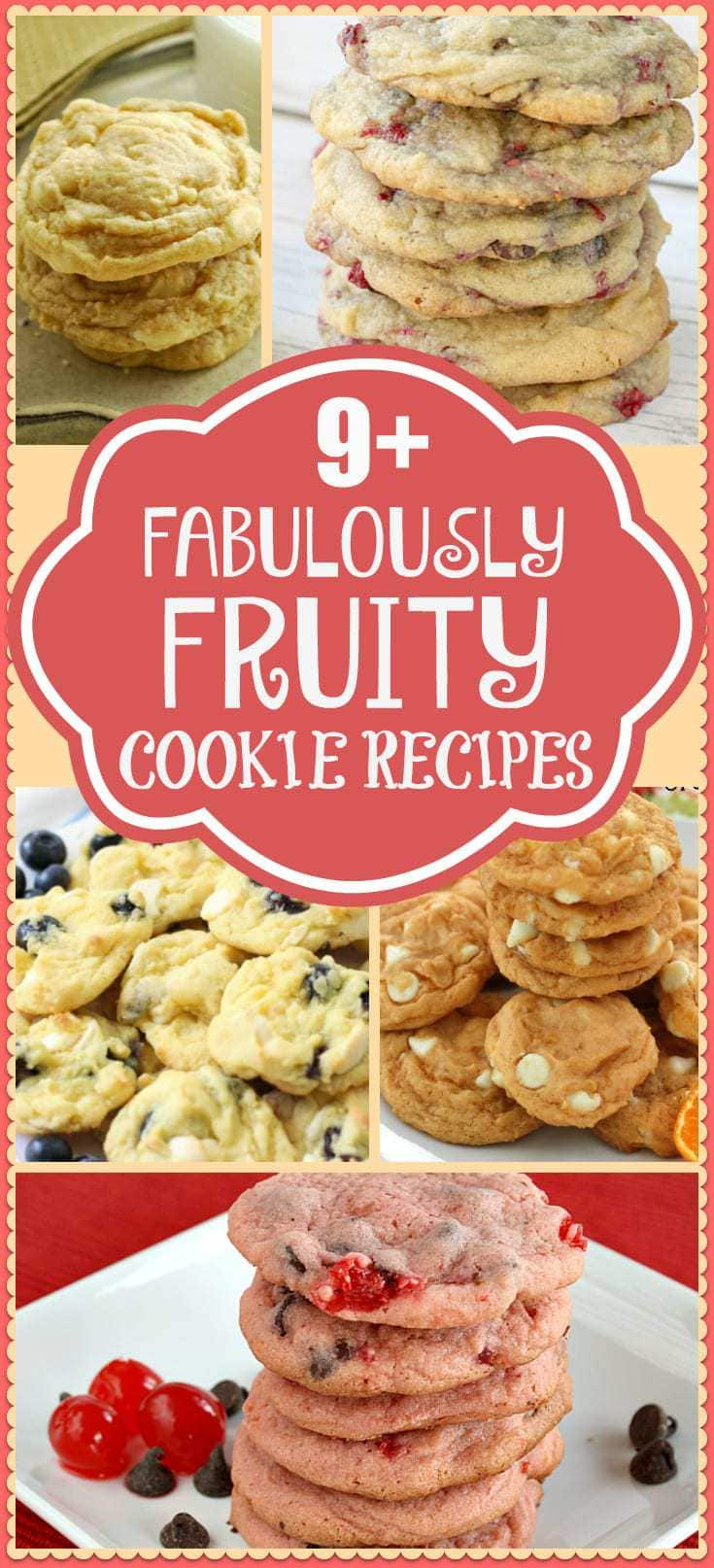 Fans of fruity cookie recipes will love this compilation! Amazing recipes for delicious cookies featuring all types of fruit.