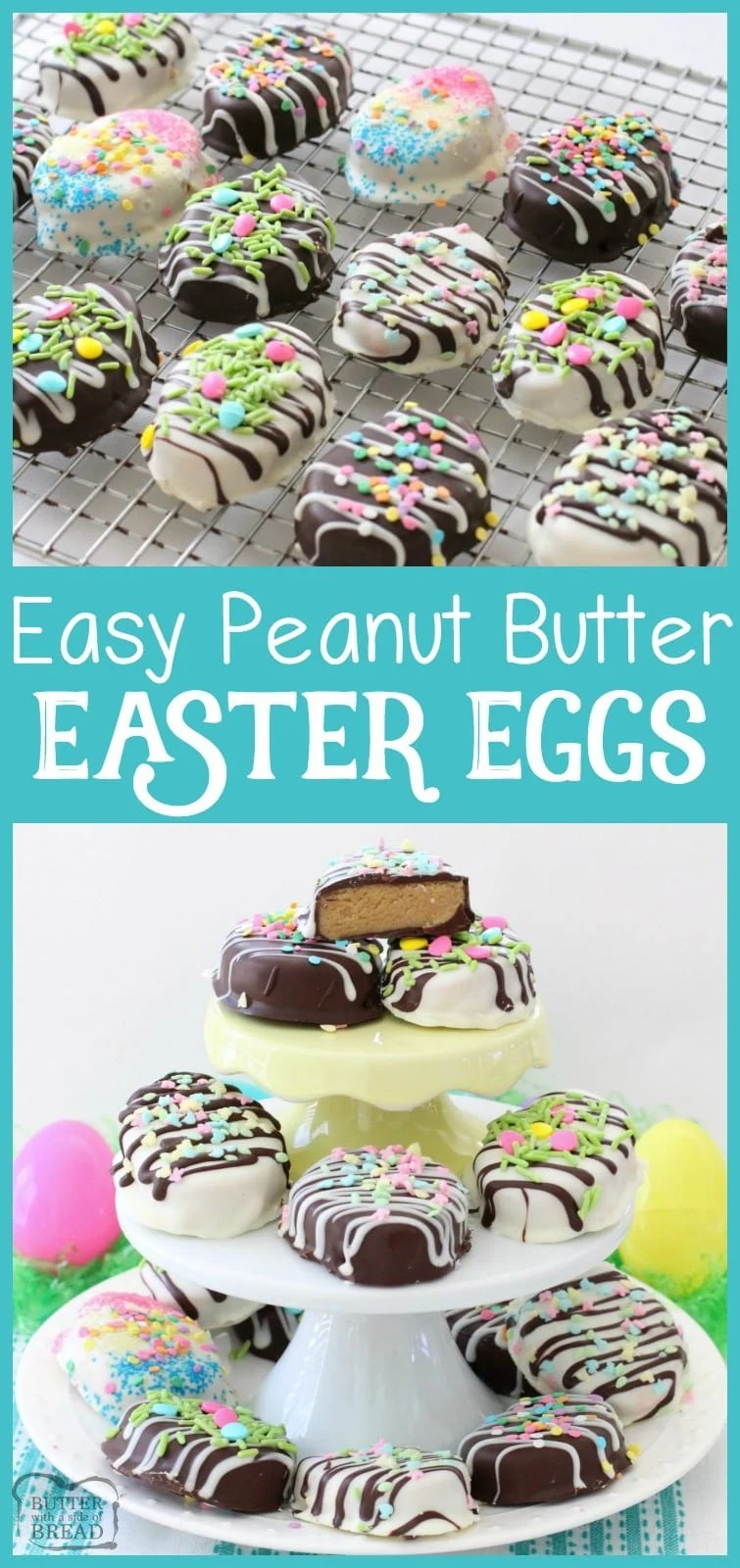 Peanut Butter Easter Eggs are simple to create and the chocolate peanut butter combination make the perfect soft and sweet filling! Plus, they are adorable!