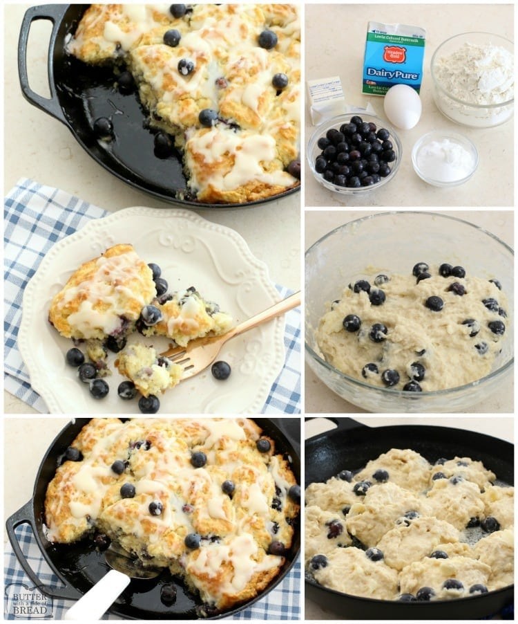 Blueberry Buttermilk Biscuits are soft and buttery and will melt in your mouth! One of my favorite biscuit recipes ever and perfect for any time of the day.
