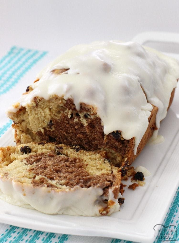 Sweet Cinnamon Raisin Quick Bread - Butter With A Side of Bread