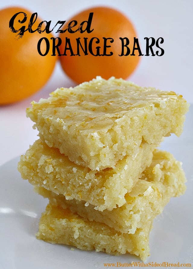 Glazed orange bars are a delicious and fresh twist to the standard lemon bars. You're going to love how refreshing and tangy-sweet these bars are!