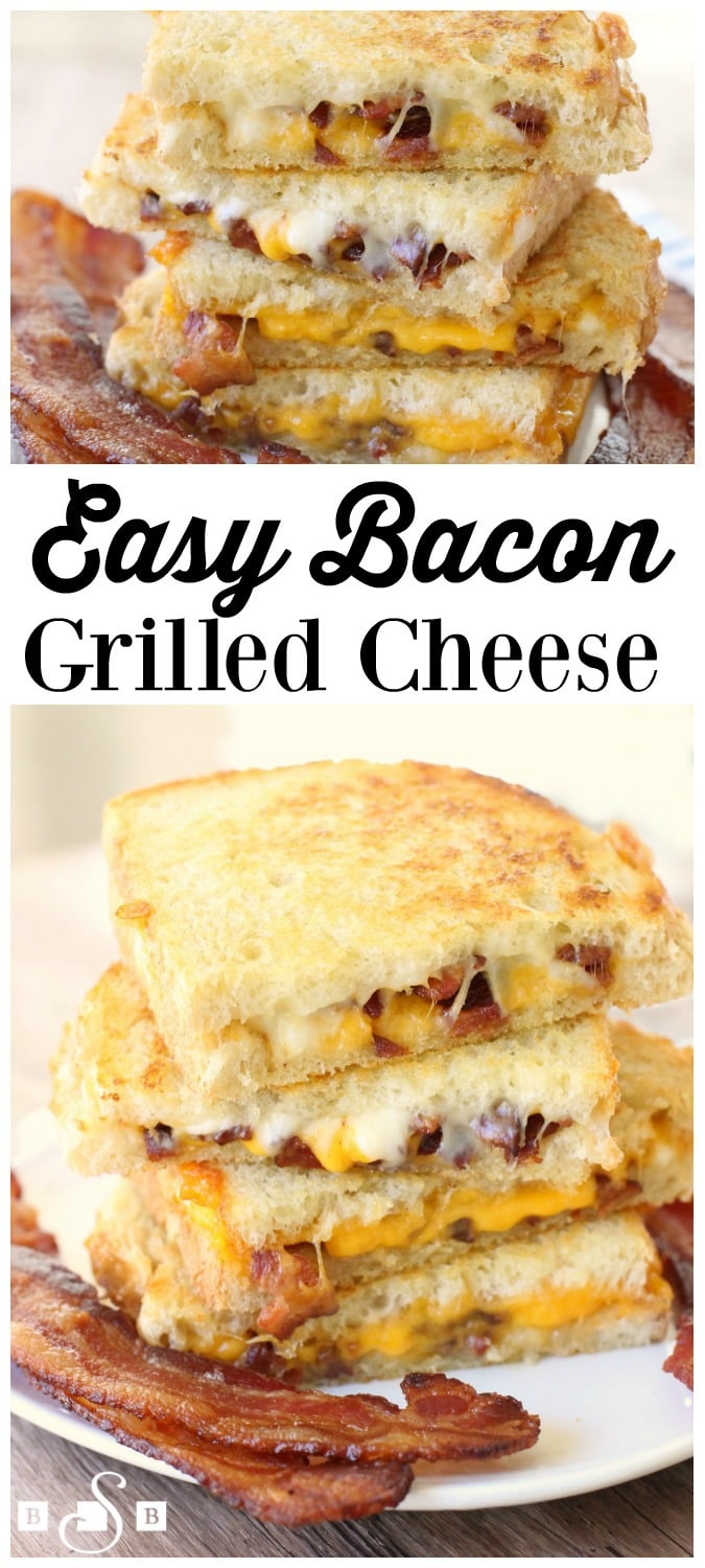 Bacon Grilled Cheese - Butter With A Side of Bread