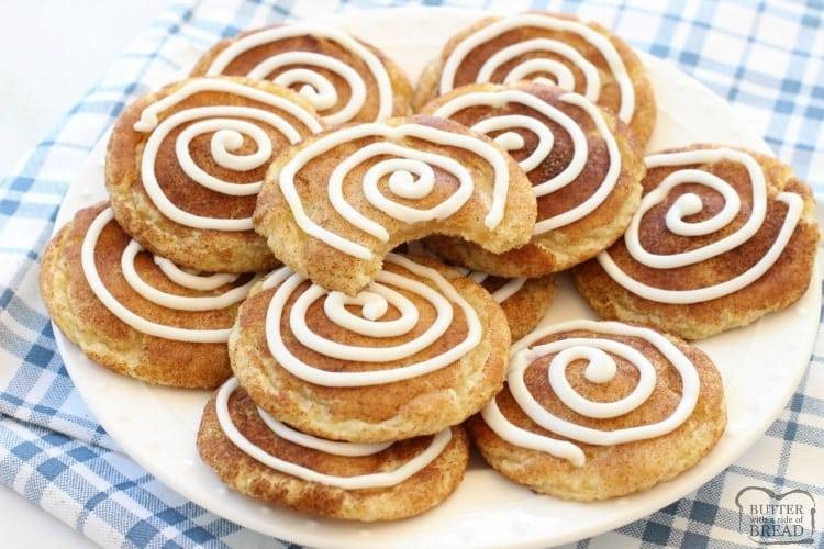 Cinnamon Roll Snickerdoodle Cookies