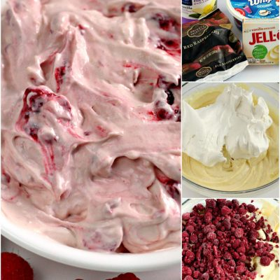 RASPBERRY VANILLA JELLO SALAD