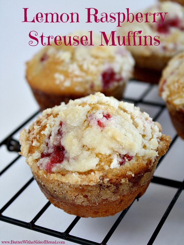 Lemon Raspberry Streusel Muffins with a lovely bright, raspberry flavor and topped with a sweet buttery streusel topping. Perfect morning treat!