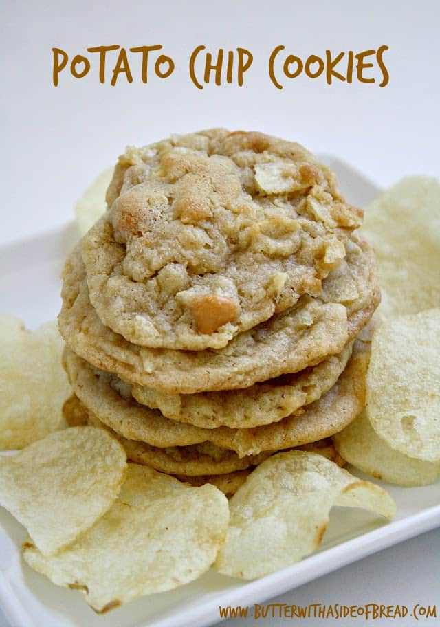 Potato Chip Cookies are the perfect combination of salty and sweet! The butterscotch chips and potato chips pair together so well in these cookies!