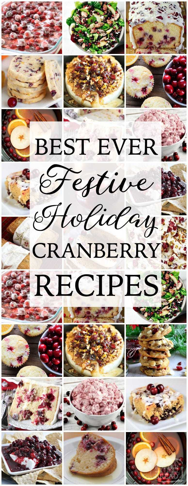 Cranberry recipes both sweet & savory, perfectly festive and delicious for the holidays. Easy to make cranberry recipes bursting with flavor. Perfectly #festive #holiday #cranberry #recipes for #Thanksgiving and #Christmas from Butter With A Side of Bread