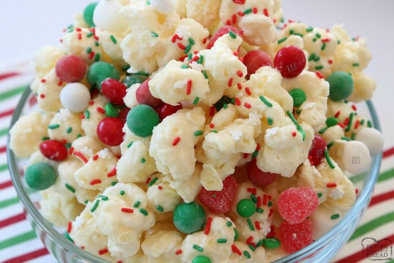 Christmas Candy Puffcorn Butter With A Side Of Bread