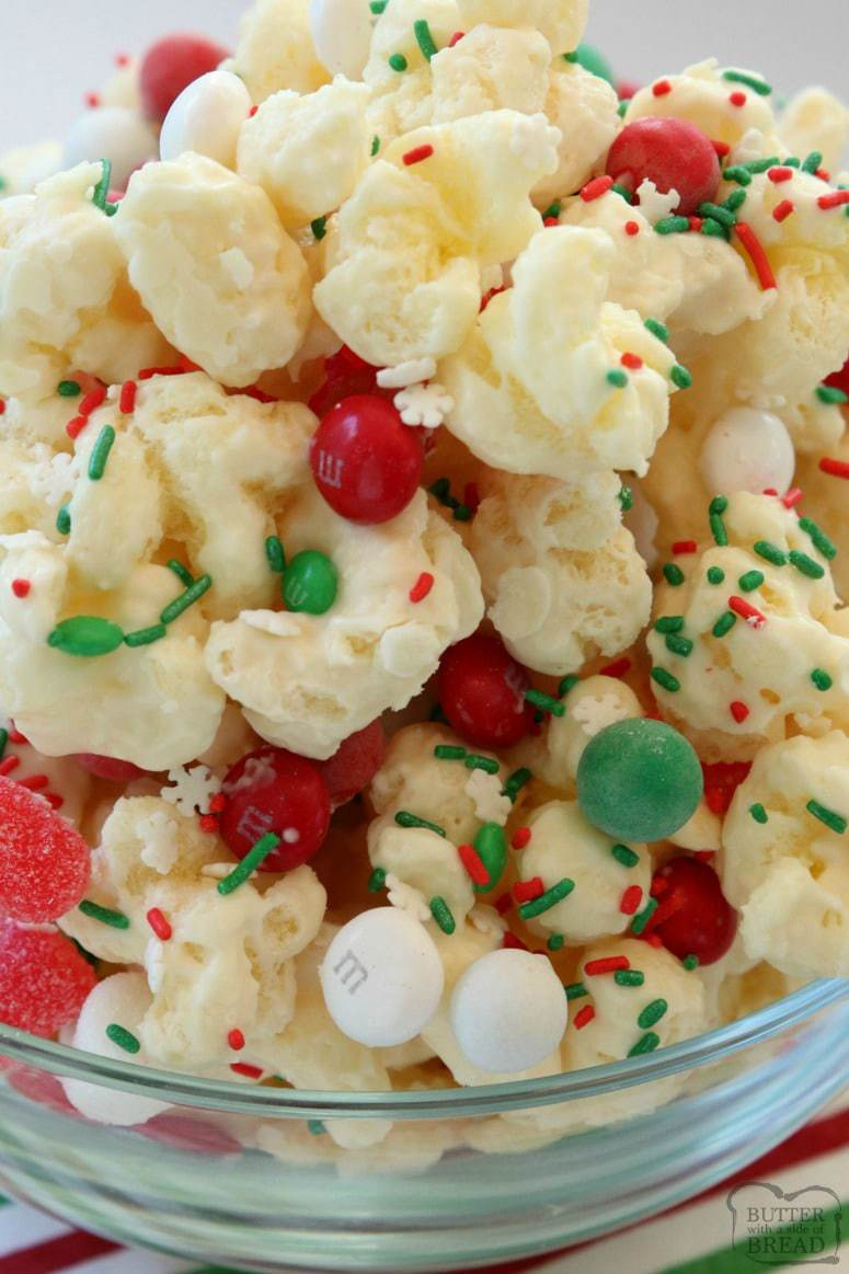 Easy Christmas Candy.Christmas Candy Puffcorn Butter With A Side Of Bread
