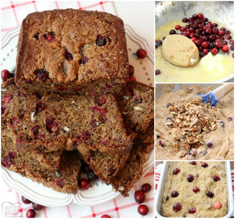 Cranberry Banana Bread is made with flavorful fresh cranberries, sweet bananas, cinnamon & nutmeg to make this fantastic take on traditional banana bread.