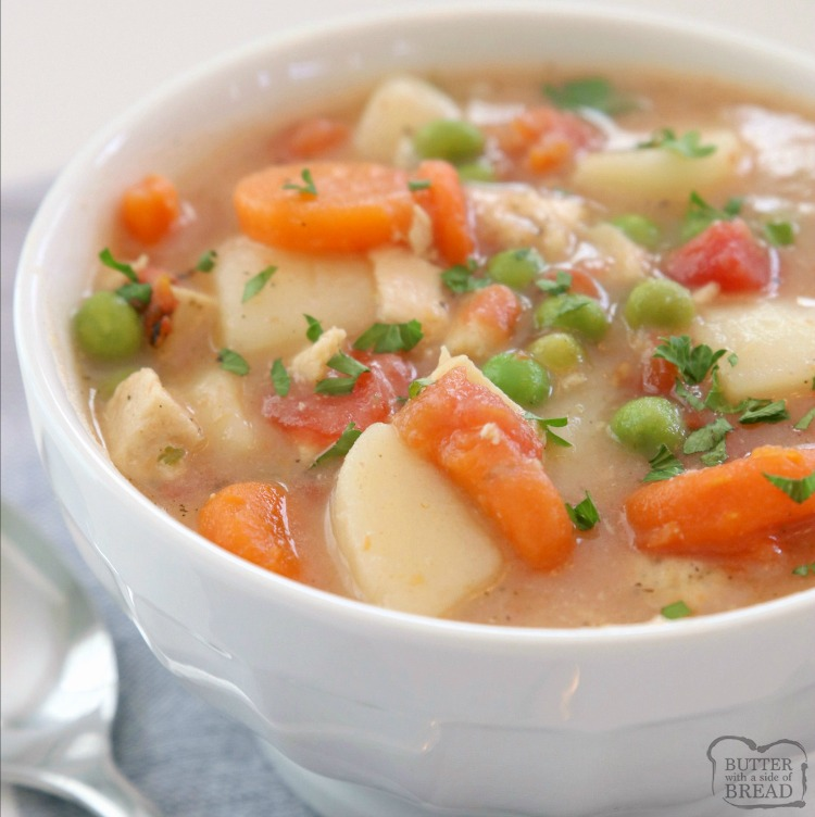 20 Minute Chicken Stew Recipe Butter With A Side Of Bread